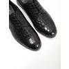 Dámské kožené polobotky se strukturou bata, černá, 526-6637 - 14