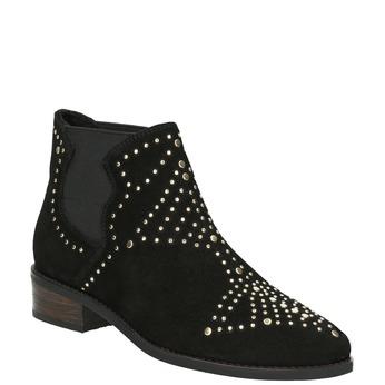 Kotníčková obuv se zlatou aplikací steve-madden, černá, 513-6082 - 13
