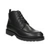 Kožená kotníčková obuv s prošitím na špici ten-points, černá, 896-6029 - 13