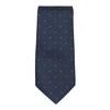 Sada kravaty a kapesníčku se vzorem n-ties, modrá, 999-9296 - 26