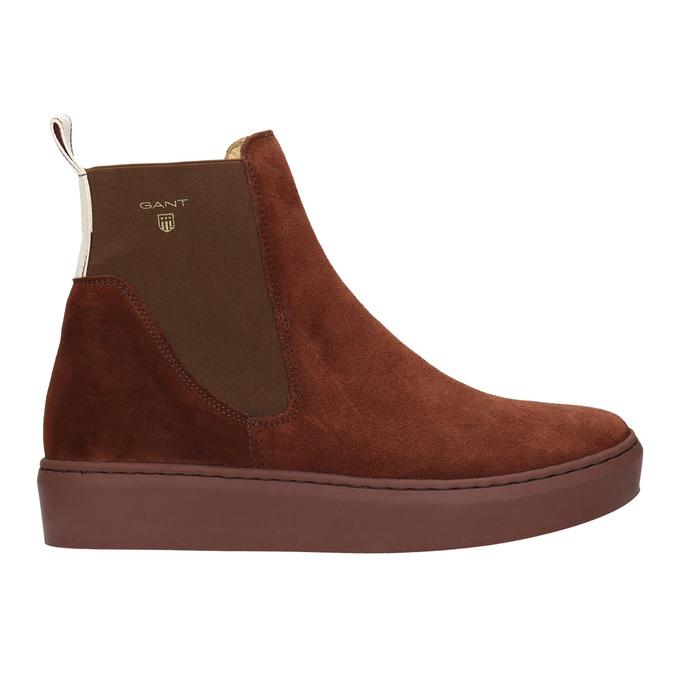 Kožená dámská kotníčková obuv gant, hnědá, 513-4062 - 15