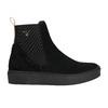 Dámská kožená kotníčková obuv gant, černá, 513-6062 - 15