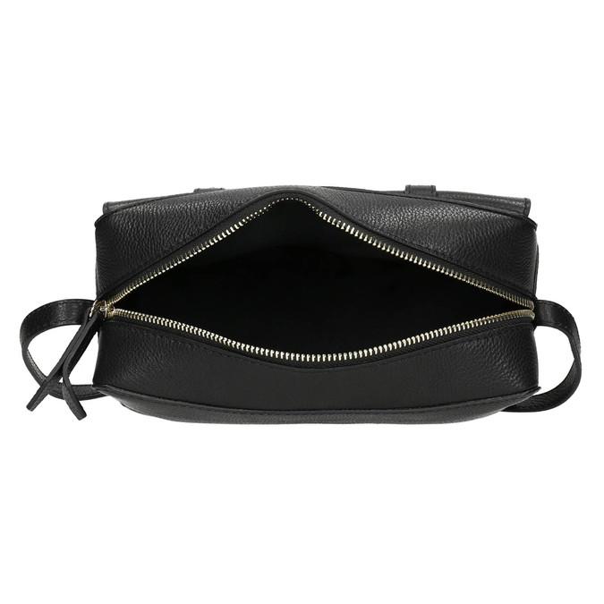Kožená černá Crossbody bata, černá, 964-6282 - 15