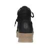 Kožená kotníčková obuv se šněrováním bata, černá, 596-6673 - 16