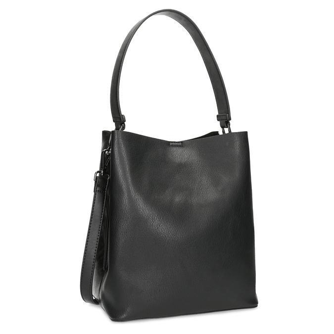 Černá kabelka s odnímatelným popruhem bata, černá, 961-2173 - 13