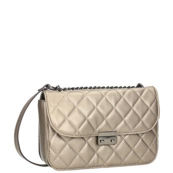 Prošívaná Crossbody kabelka bata, hnědá, 961-4141 - 13