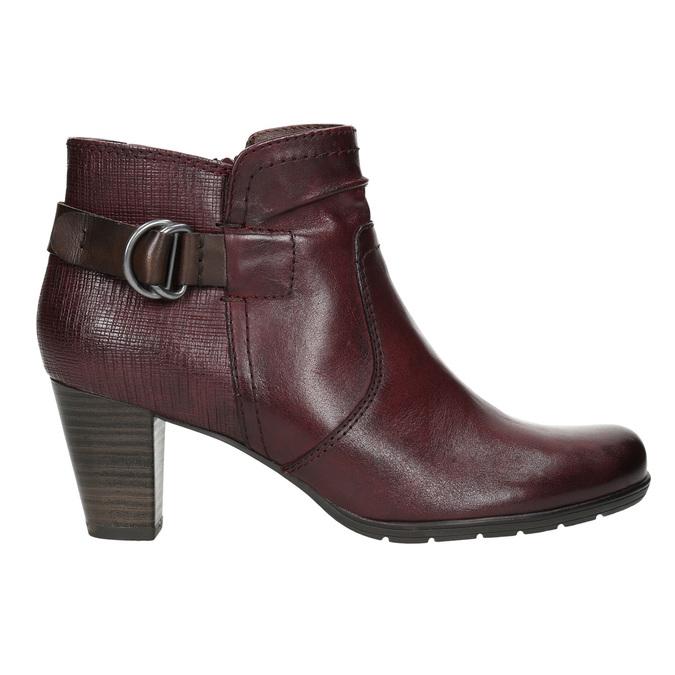 Kotníčková obuv šíře H bata, červená, 696-5625 - 15
