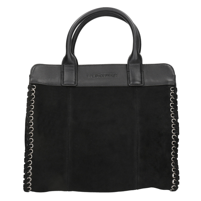 Kožená dámská kabelka fredsbruder, černá, 963-6002 - 26