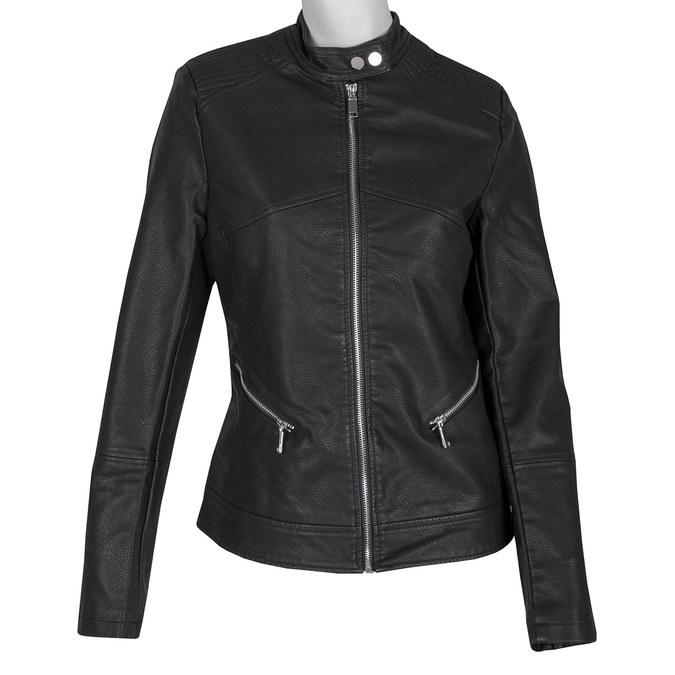 Koženková dámská bunda bata, černá, 971-6203 - 13