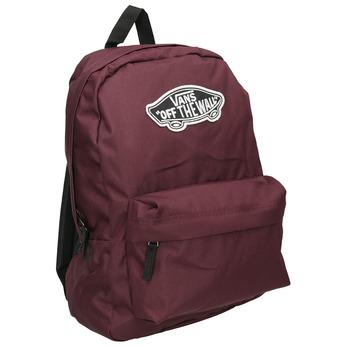 Vínový batoh s nášivkou vans, červená, 969-5092 - 13