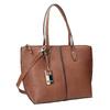 Hnědá dámská kabelka s prošitím gabor-bags, hnědá, 961-3059 - 13