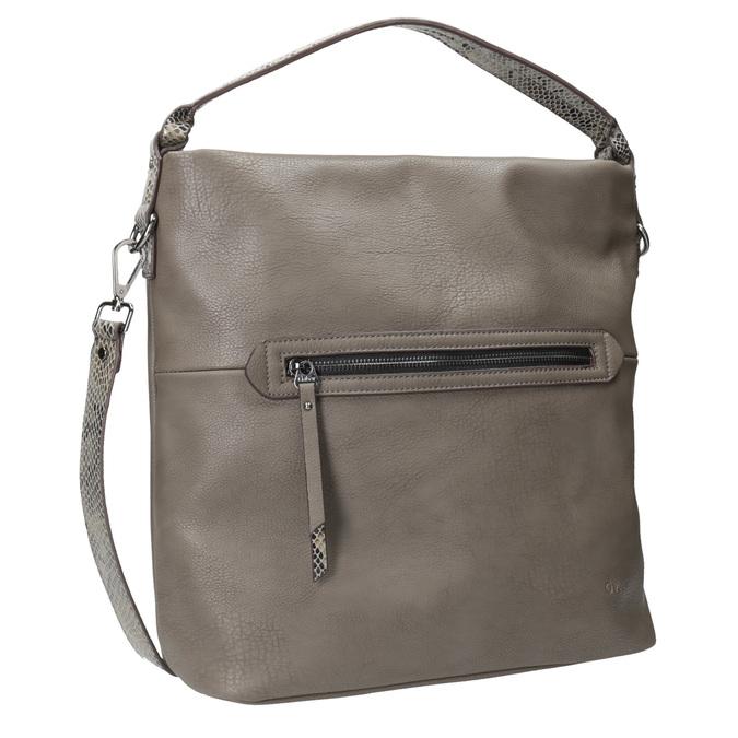 Dámská Hobo kabelka s popruhem gabor-bags, hnědá, 961-8029 - 13