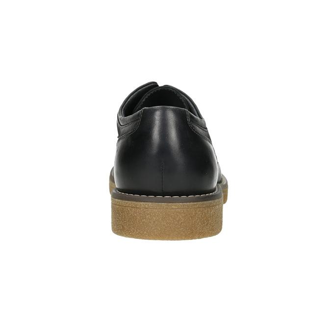 Pánské kožené Derby polobotky bata, černá, 826-6620 - 17