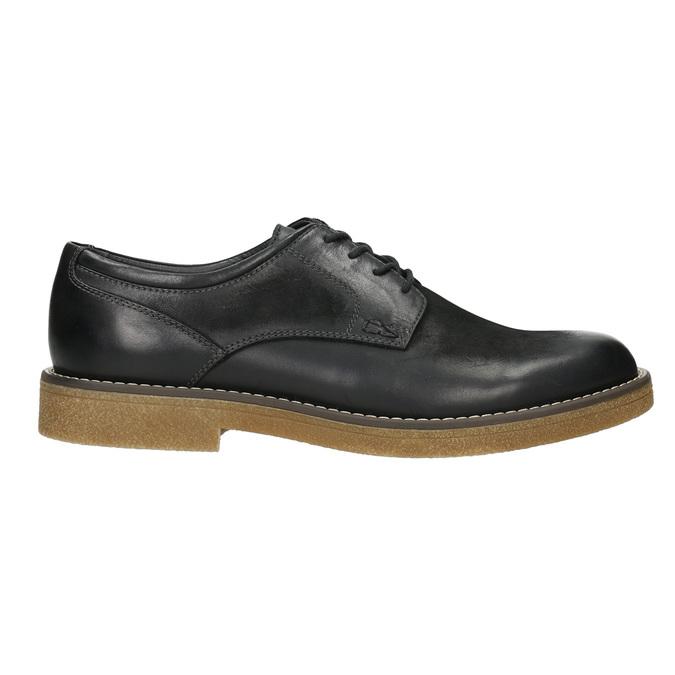 Pánské kožené Derby polobotky bata, černá, 826-6620 - 15