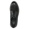 Pánské kožené Derby polobotky bata, černá, 826-6620 - 26