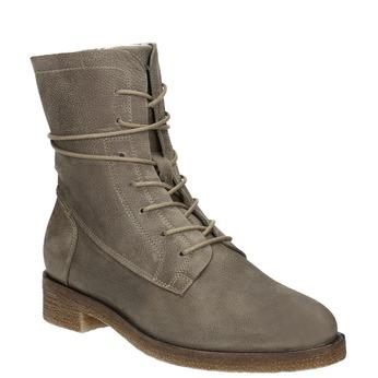 Dámské kožené šněrovací boty bata, šedá, 596-2663 - 13