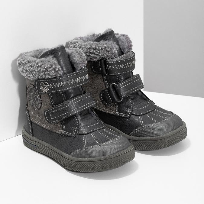 Dětská zimní obuv se zateplením bubblegummers, šedá, 191-4619 - 26