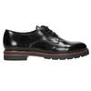 Kožené polobotky na výrazné podešvi bata, černá, 526-6642 - 15