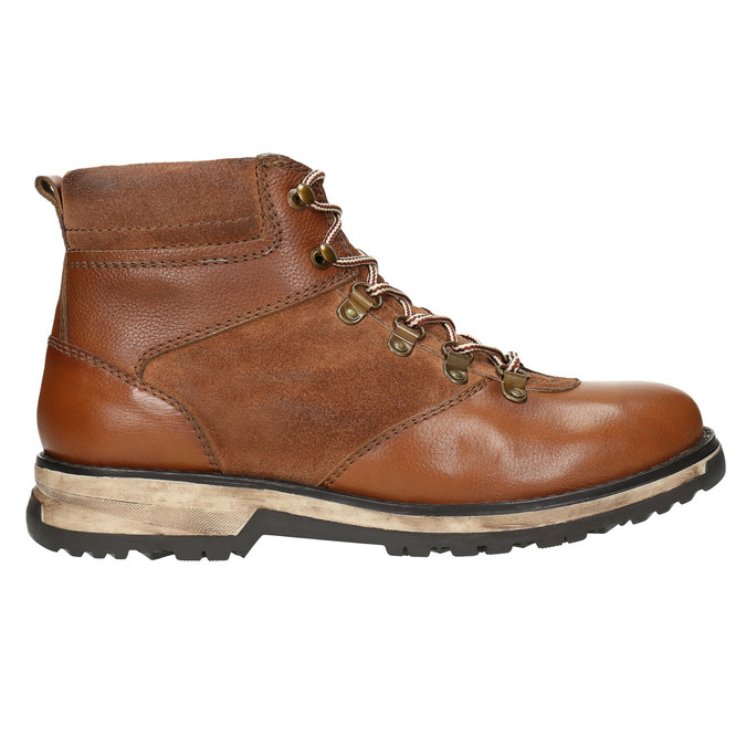 Kožená pánská zimní obuv bata, hnědá, 896-4668 - 15