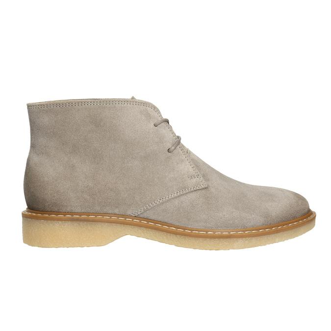 Dámské kožené Desert Boots bata, šedá, 593-2608 - 15