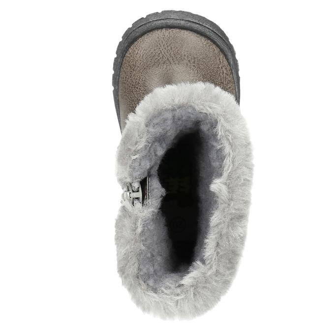 Dětská zimní obuv s kožíškem bubblegummers, šedá, 191-2620 - 19