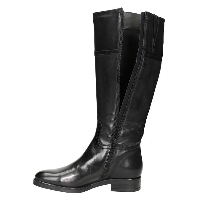 Kožené dámské kozačky bata, černá, 594-6606 - 15