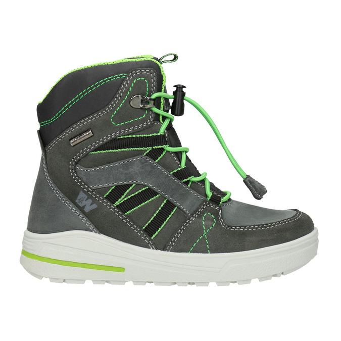 Kožené dětské zimní boty weinbrenner-junior, šedá, 493-2613 - 26