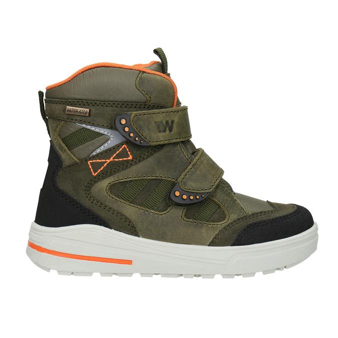 Dětká zimní obuv z kůže weinbrenner-junior, zelená, 493-7612 - 26