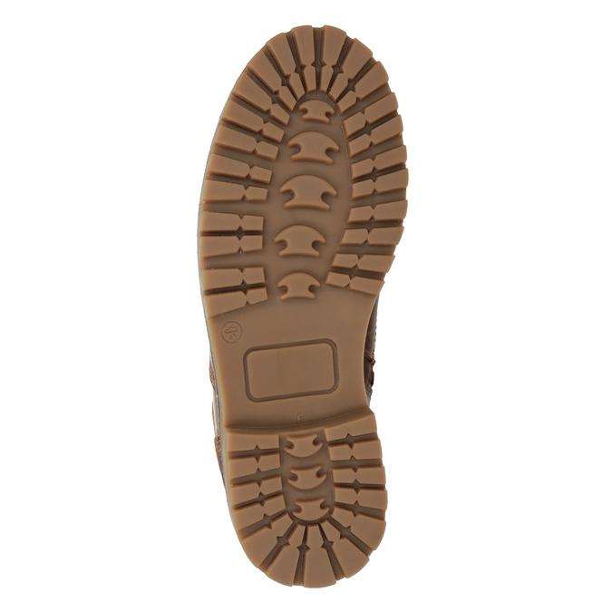 Dívčí kožená kotníčková obuv bullboxer, hnědá, 494-3022 - 17
