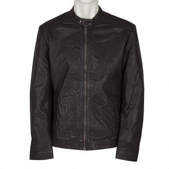Pánská kožená bunda bata, hnědá, 974-4171 - 13