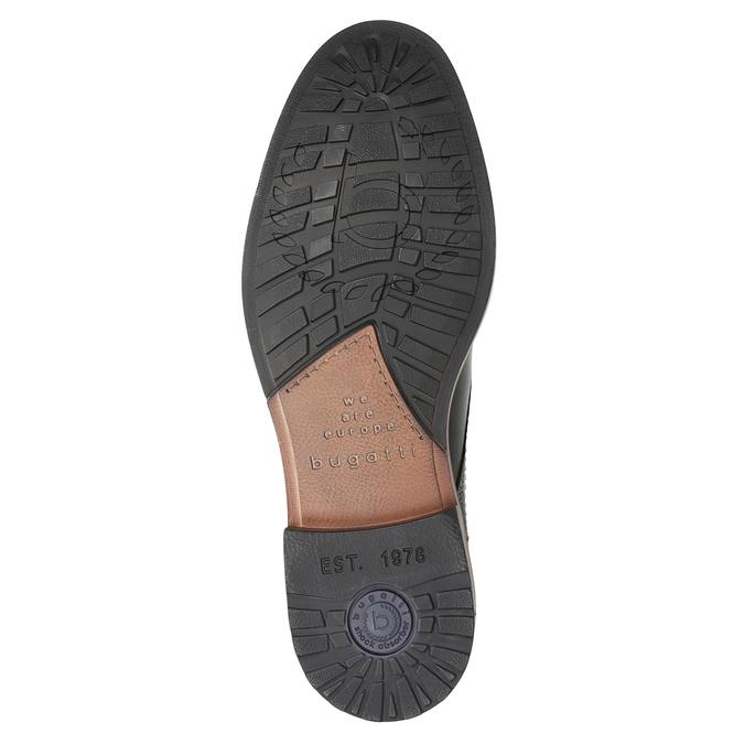 Pánská kožená kotníčková obuv bugatti, černá, 824-6015 - 17