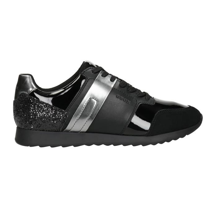Dámské černé tenisky geox, černá, 621-6045 - 26