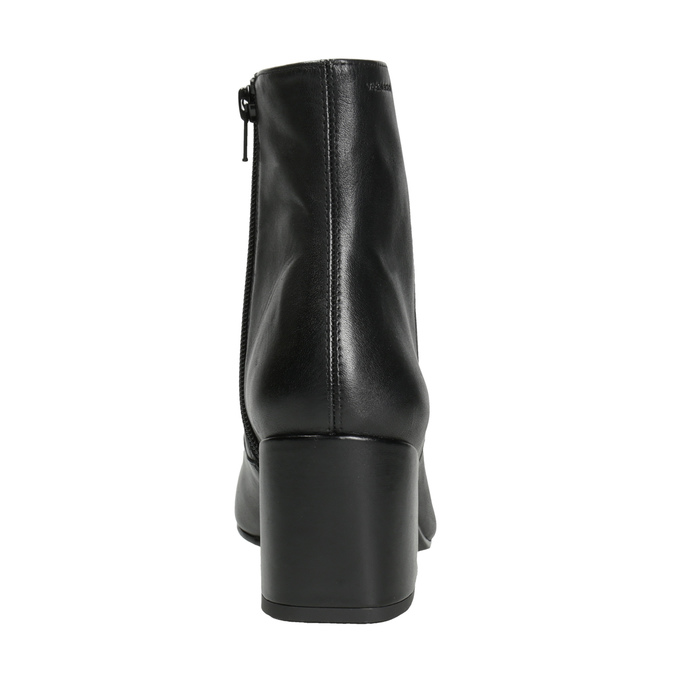 Kožené kozačky na stabilním podpatku vagabond, černá, 716-6038 - 16