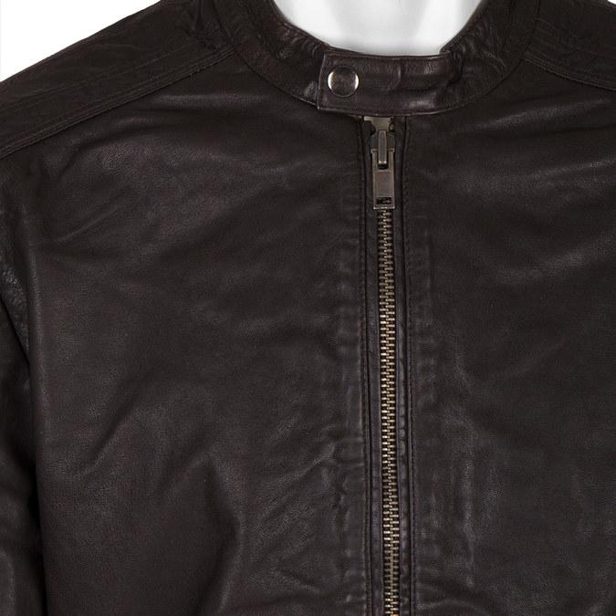 Pánská kožená bunda bata, hnědá, 974-4171 - 16