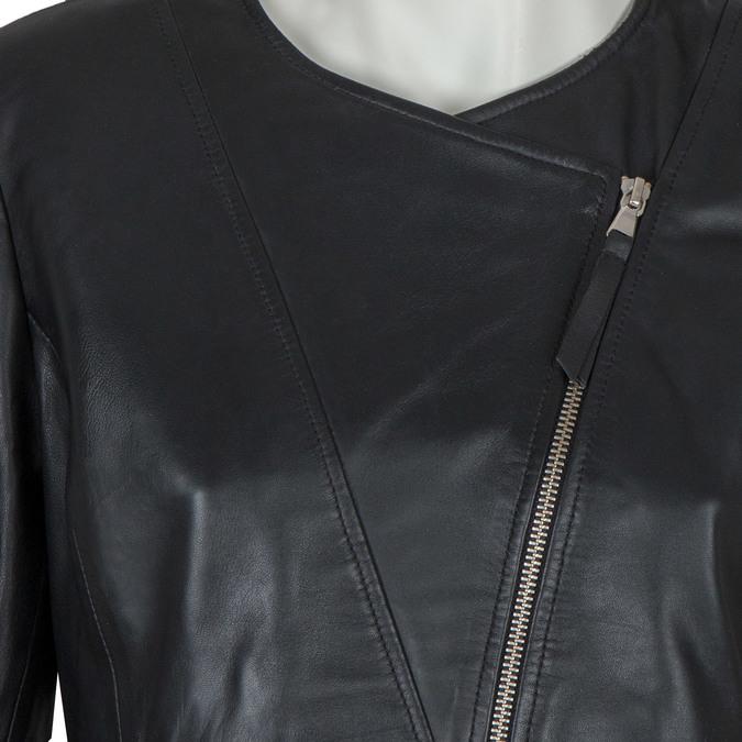 Dámská kožená bunda bata, černá, 974-6177 - 16