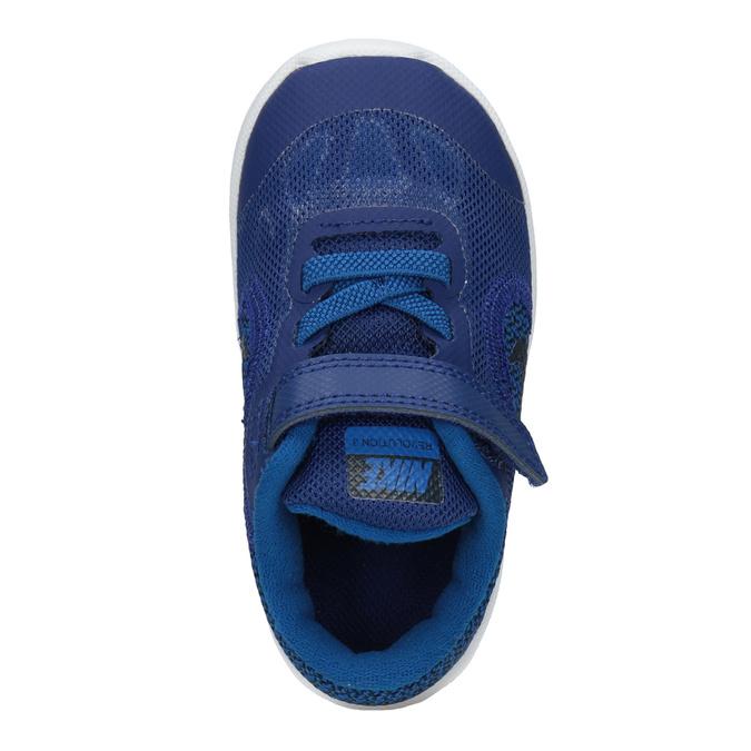 Modré dětské tenisky nike, modrá, 109-9132 - 15