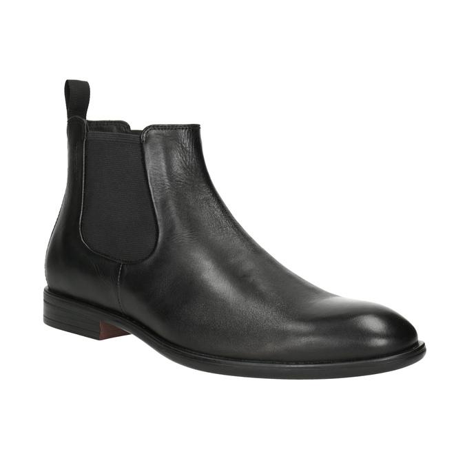 Pánská kožená Chelsea obuv vagabond, černá, 814-6024 - 13