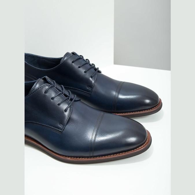 Ležérní kožené polobotky modré bata, modrá, 826-9681 - 14