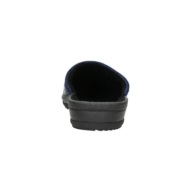 Pánská domácí obuv bata, modrá, 879-9611 - 17