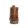 Hnědá kožená kotníčková obuv bata, hnědá, 896-3684 - 17