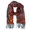 Dámská šála s třásněmi bata, oranžová, 909-8635 - 13