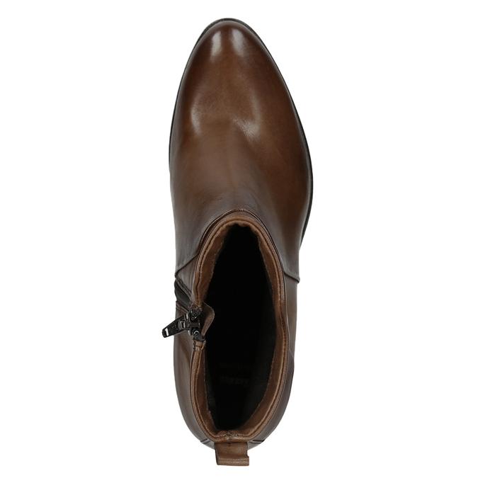 Kotníčkové kozačky na stabilním podpatku bata, hnědá, 696-4654 - 15