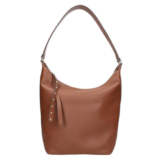 Kožená dámská kabelka bata, hnědá, 964-4274 - 26