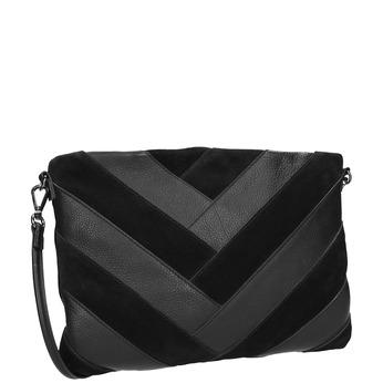 Černé kožené psaníčko bata, černá, 964-6265 - 13