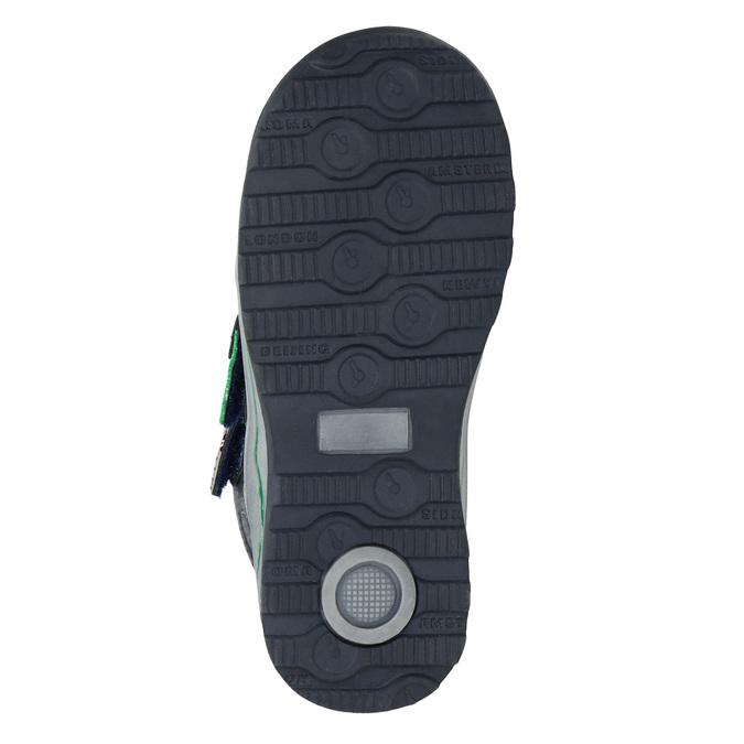 Kotníčková dětská zimní obuv mini-b, modrá, 291-9627 - 17