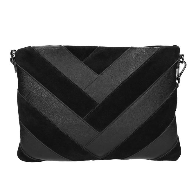 Černé kožené psaníčko bata, černá, 964-6265 - 26