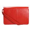 Červená kožená kabelka vagabond, červená, 964-5086 - 26