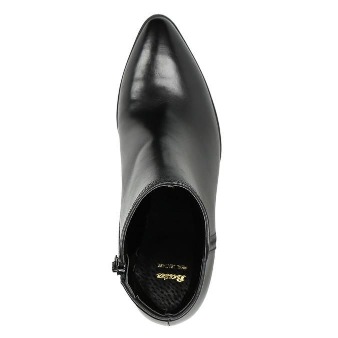 Dámská kožená kotníčková obuv bata, černá, 794-6650 - 26