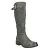 Kožené kozačky s masivní podešví bata, šedá, 596-9662 - 13