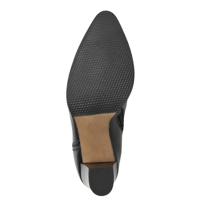 Dámská kožená kotníčková obuv bata, černá, 794-6650 - 19
